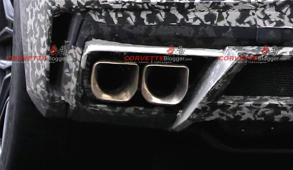 The C8 Corvette E-Ray Shows a Unique Exhaust Outlet