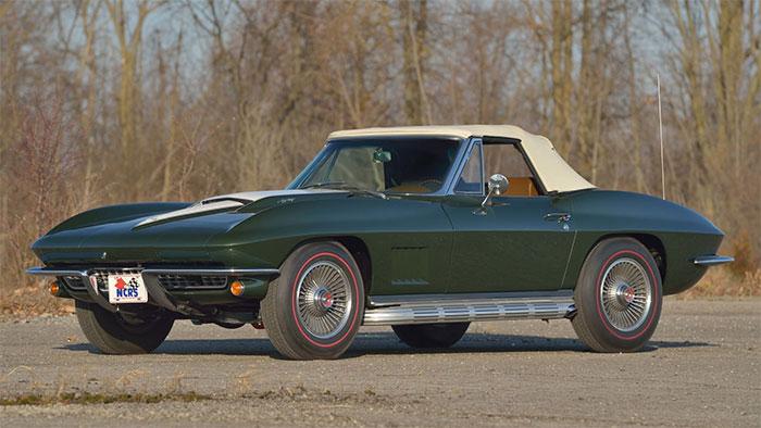 1967 Green / Saddle 427-425 roadster