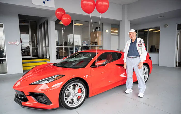 A 90 Year Old Veteran Takes Delivery of His New 2021 Corvette Z51 Coupe