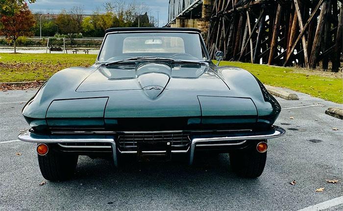 Corvettes on eBay: Goodwood Green 1967 Corvette Survivor with 35K Miles