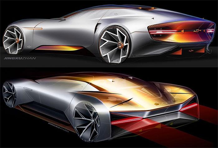 Future Corvette? GM Design Shares a Bold Sketch on Instagram