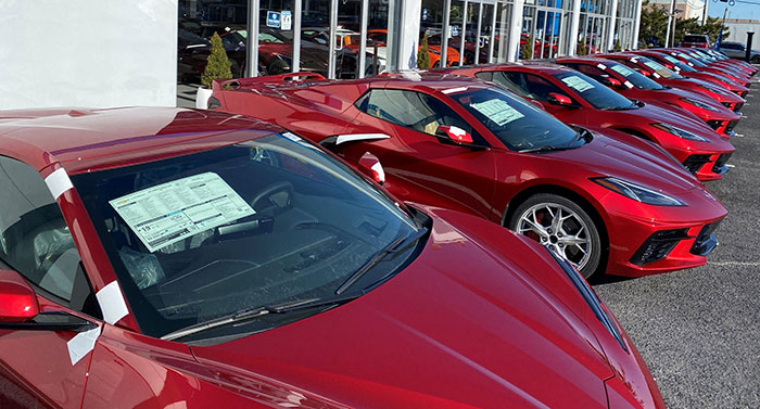 [PICS] Kerbeck Shows Off Multiple C8 Corvettes in Red Mist with Different Interiors and Wheels