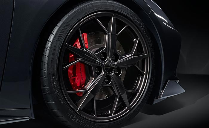 The 2021 Corvette's Black Trident Wheels Are On Constraint