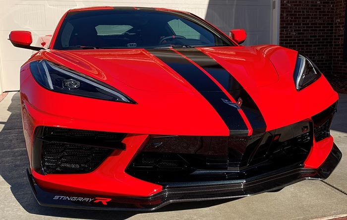 American Hydrocarbon Offers 5VM/5W8 OEM-Style Front Splitters For Your C8 Corvette