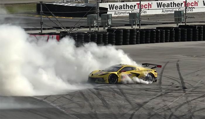 [VIDEO] Jordan Taylor Nearly Crashed the Corvette C8.R During His Celebratory Post-Race Burnouts