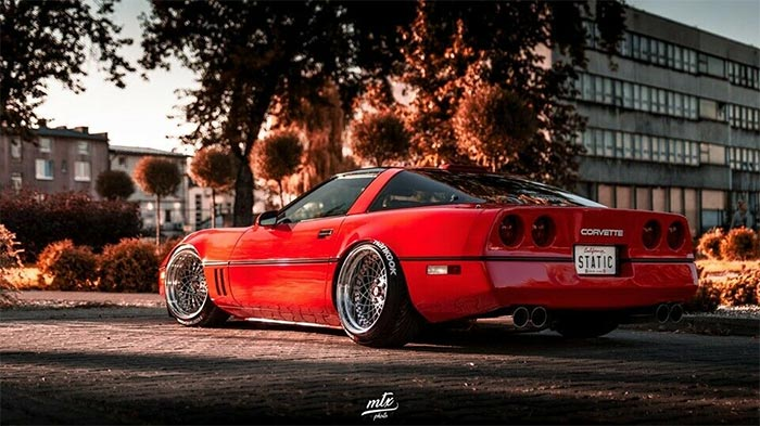 1987 Corvette C4 Stance