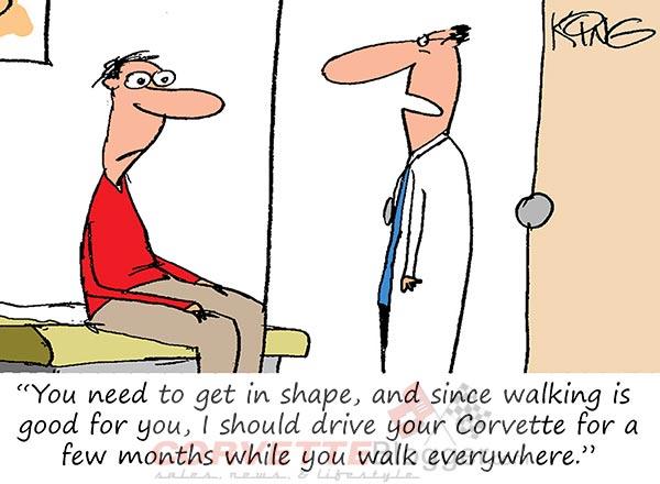 Saturday Morning Corvette Comic: Ignoring the Doctor's Advice