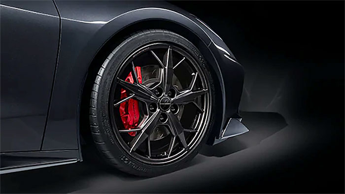 C8 Corvette's Black Trident Wheels Expected to be on Constraint Through April