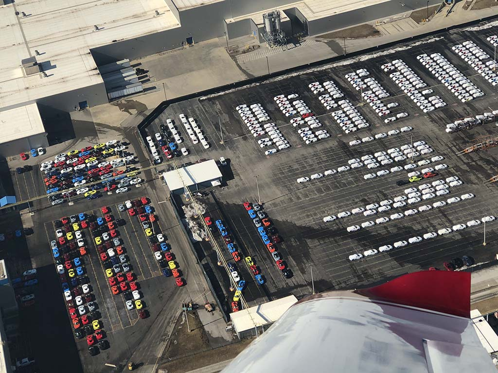 Flyover Gives Us a Different Perspective of the Corvette Assembly Plant