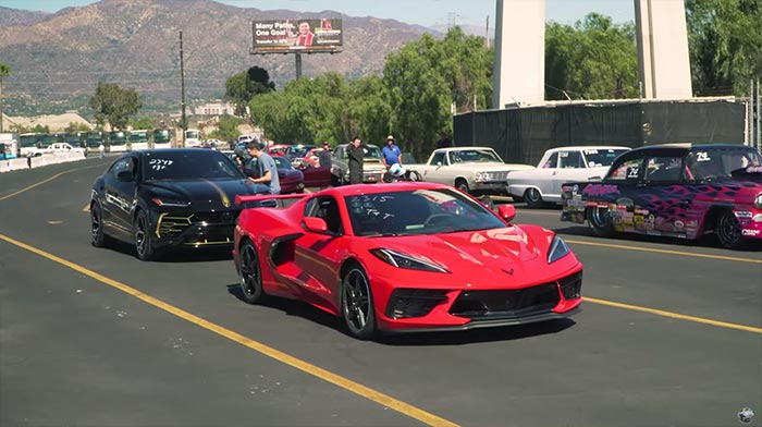 [VIDEO] Speed Phenom's C8 Corvette Races a 641-hp Lamborghini Urus SUV at the Dragstrip