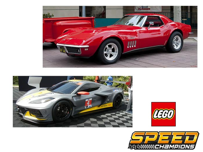 C3 and C8.R Corvette Included in Lego Speed Champions Sets for 2021