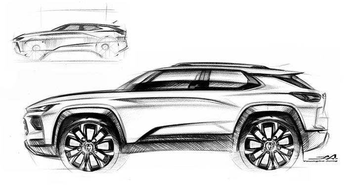 Does This Sketch from GM Design Studio Represent A Future Corvette SUV?