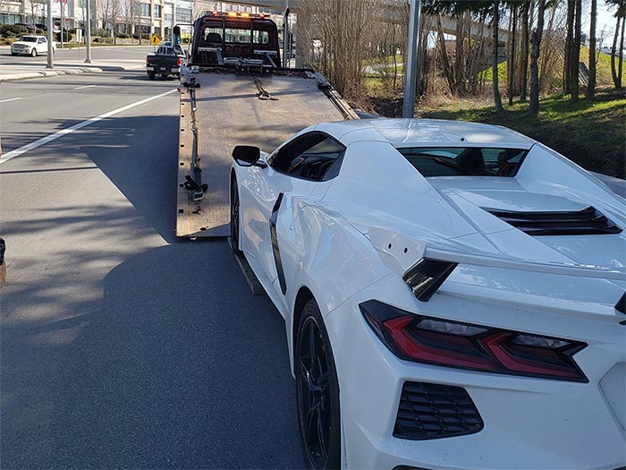 C8 Corvette Impounded by Canadian Authorities for Speeding at Twice the Limit