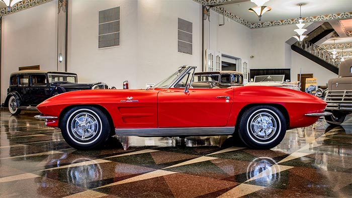 Win a Matching Numbers 1963 Corvette Sting Ray Fuelie Convertible!