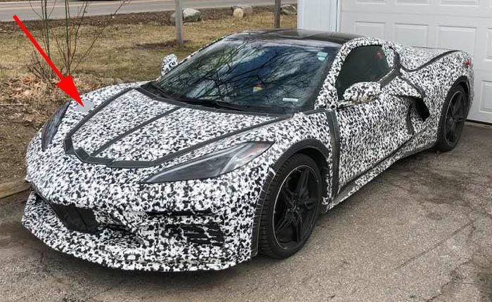 [SPIED] Camouflaged C8 Corvette Prototype Driveway Find