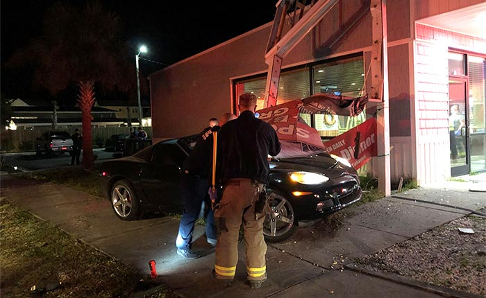 [ACCIDENT] Intoxicated C6 Corvette Driver Crashes Into a Bar