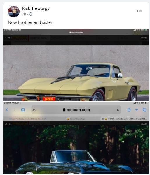 Rick Treworgy bought the Sunfire Yellow 1967 Corvette L88