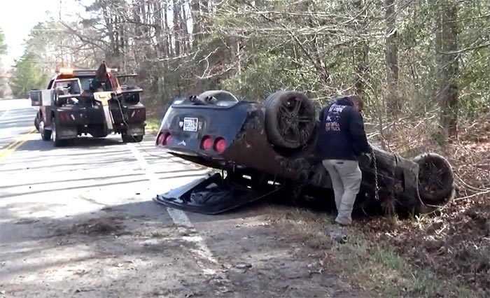 [ACCIDENT] C6 Corvette Involved in a Single-Vehicle Rollover Crash in Maryland