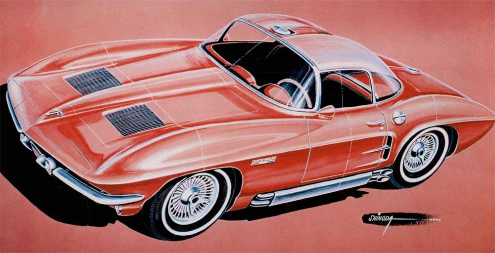 Early '60s Corvette design rendering