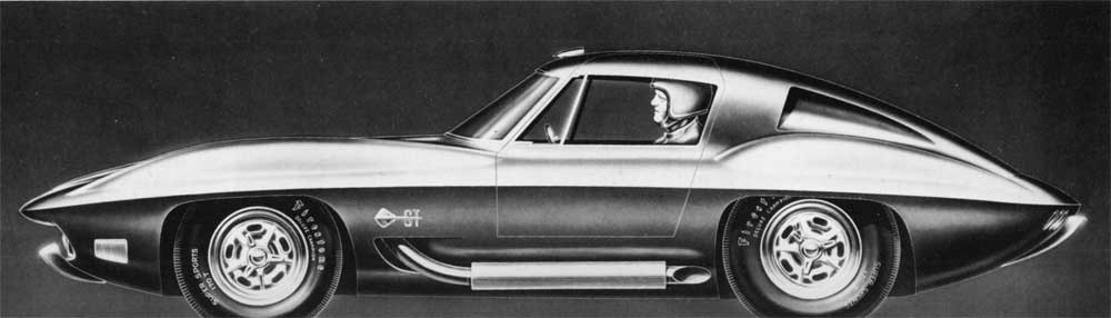 Stingray coupe version for Bill Mitchell. Notice how Shinoda put Mitchell as the driver.