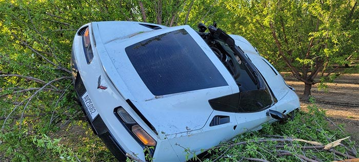 [ACCIDENT] How Did This C7 Corvette End Up In a Tree?