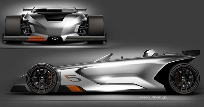 General Motors Design Evokes CERV 5 Name on This Open-Air Chevy Racer