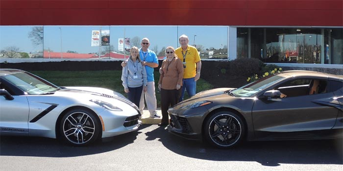 Man Surprised with C7 Corvette and NCM Experience During Dad's C8 Corvette Museum Delivery