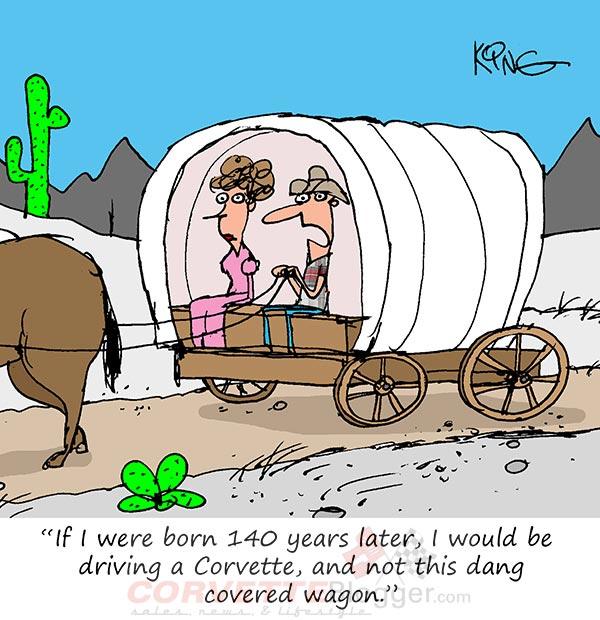 Saturday Morning Corvette Comic: Wishing This Wagon Had a Bit More GiddyUp