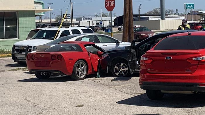 [ACCIDENT] C6 Corvette For Sale on Used Car Lot Struck By an Out of Control Chevy Malibu