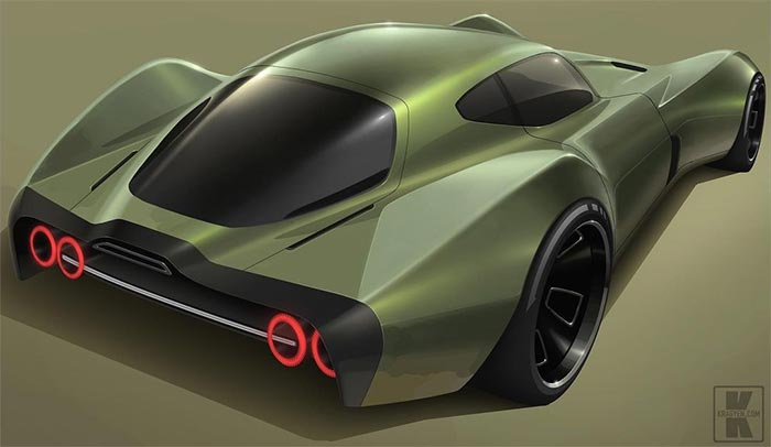 [PICS] Toyota Designer Shares Render of His 'Electro Stingray'