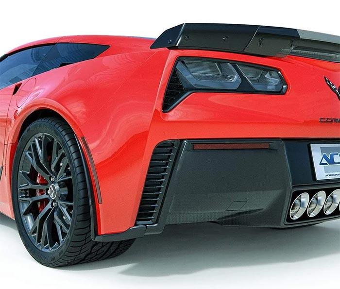 ACS Composite C7 Corvette ZR1, Z06, Grand Sport Rear Fascia Extensions
