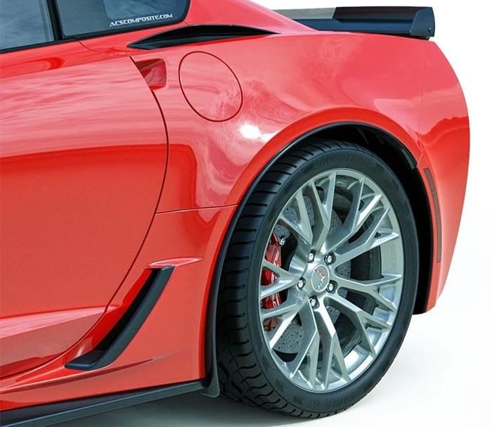 ACS Composite C7 Corvette ZR1, Z06 & Grand Sport Rear Quarter Extensions