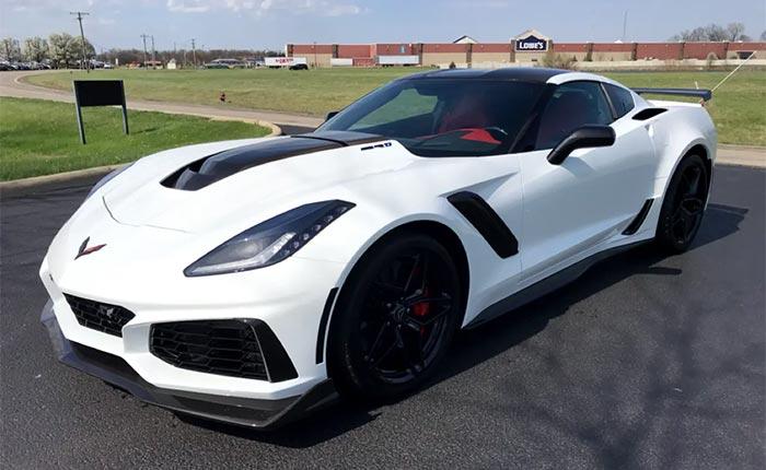 2019 Corvette ZR1 in Arctic White