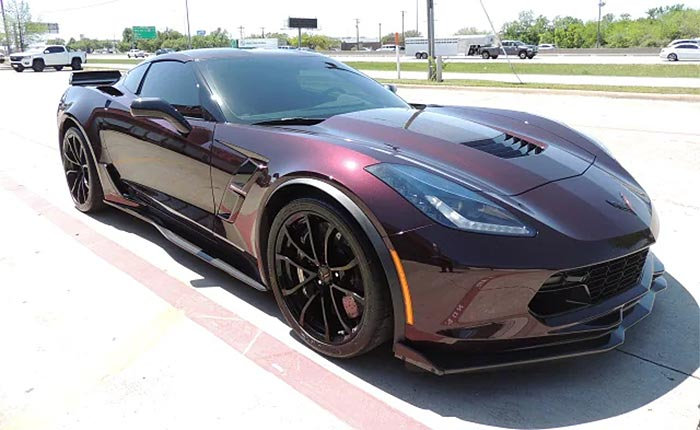 Corvettes for Sale: This Black Rose 2017 Corvette Grand Sport with Z07 Package is Nearly Perfect