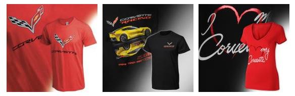 C1-C8 Corvette T-Shirts
