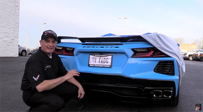 [VIDEO] Rick Conti Thanks Tadge Juechter for the C8 Corvette with a Vanity License Plate