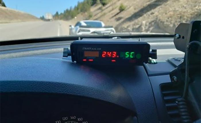 Canadian Police Impound a C7 Corvette After Driver was Clocked Speeding at 151 MPH