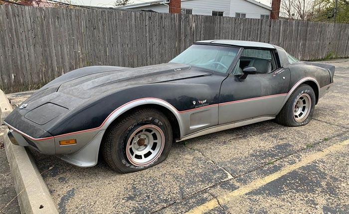 Corvettes for Sale: 1978 Corvette Indy 500 Pace Car Parking Lot Find