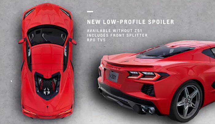 2022 Corvette with Low Profile Spoiler