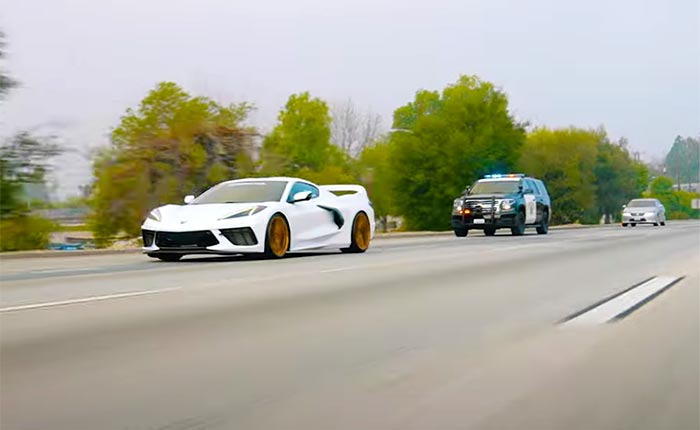 [VIDEO] C8 Corvette Chased by Police SUV is Actually a Promotion to Sell Aftermarket Wheels