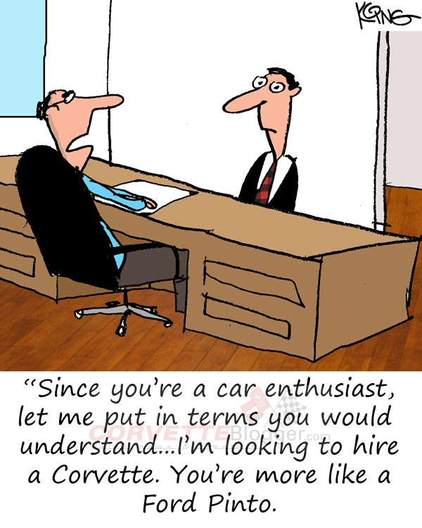 Saturday Morning Corvette Comic: When The Boss Sets You Straight