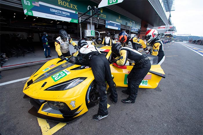Corvette Racing at Spa: Fourth in European Debut for C8.R
