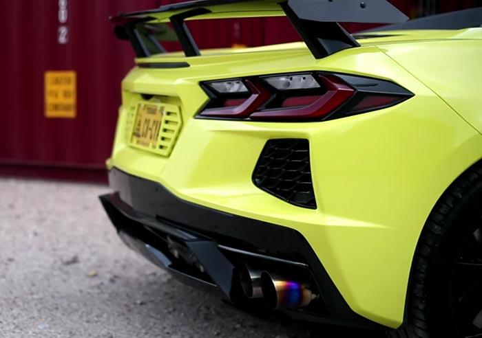 [VIDEO] C8 Corvette Convertible Receives a Titanium Exhaust Upgrade at Late Model Racecraft