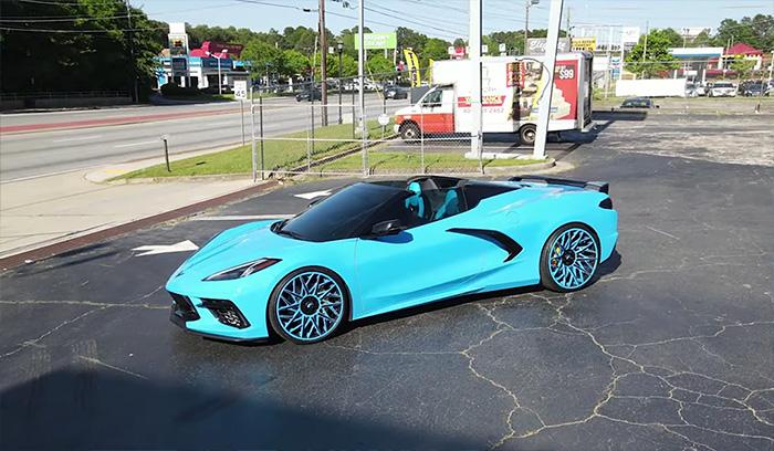 [VIDEO] Rapid Blue C8 Corvette Roaming the Streets of Atlanta on 22-Inch Forgiato Wheels