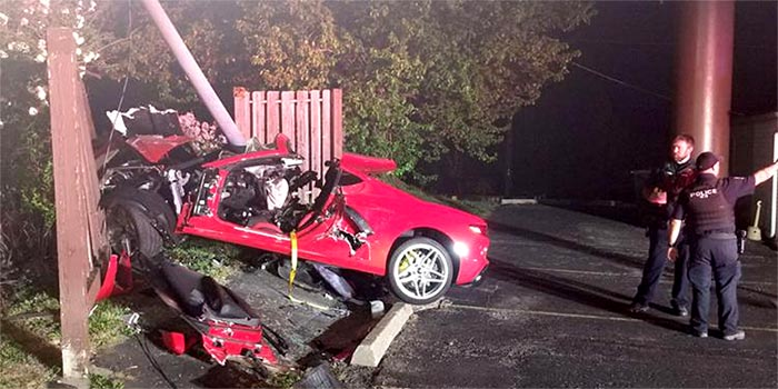[ACCIDENT] High Speed Crash in a C8 Corvette Sends Two to the Hospital