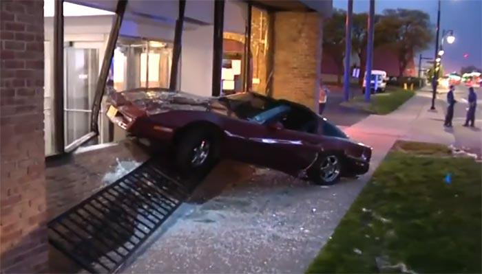 [ACCIDENT] C4 Corvette Sent Crashing Into a Detroit Bank After Collision with Drunk Driver