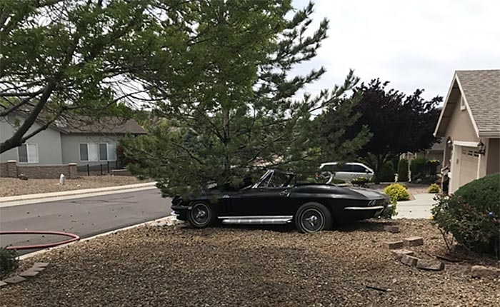 [ACCIDENT] Out-Of-Control 1966 Corvette Driver Flys Through Neighborhood Yards and Hits a Tree