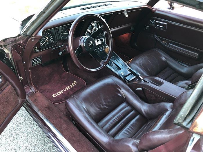Corvettes on eBay: This Dark Claret Red 1980 Corvette is a True California Car