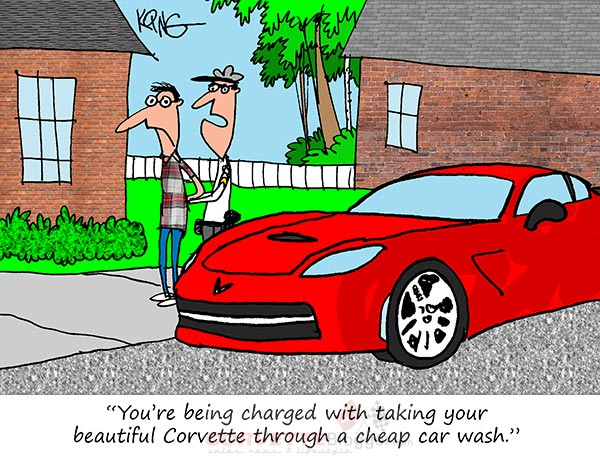 Saturday Morning Corvette Comic: You Have The Right to Remain Silent!