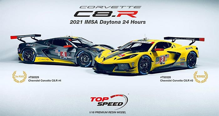 IMSA Partners with TSM-Model For Premium Line of 1/18-Scale Models that Includes the Corvette C8.R border=